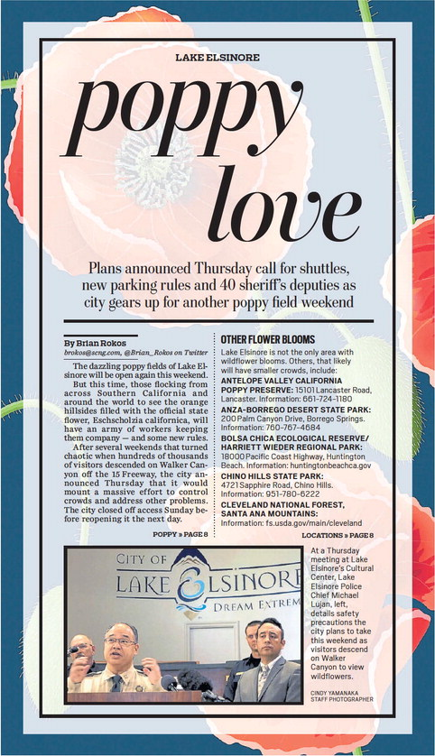 poppy love - The Press-Enterprise